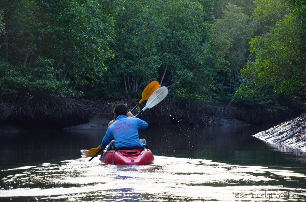 Jimmy paddling