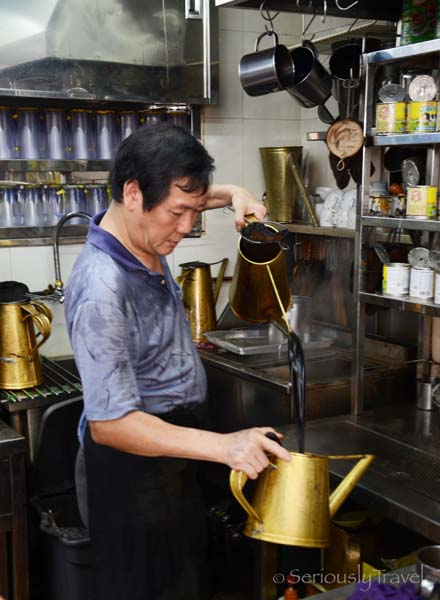 Uncle Making Kopi at Da