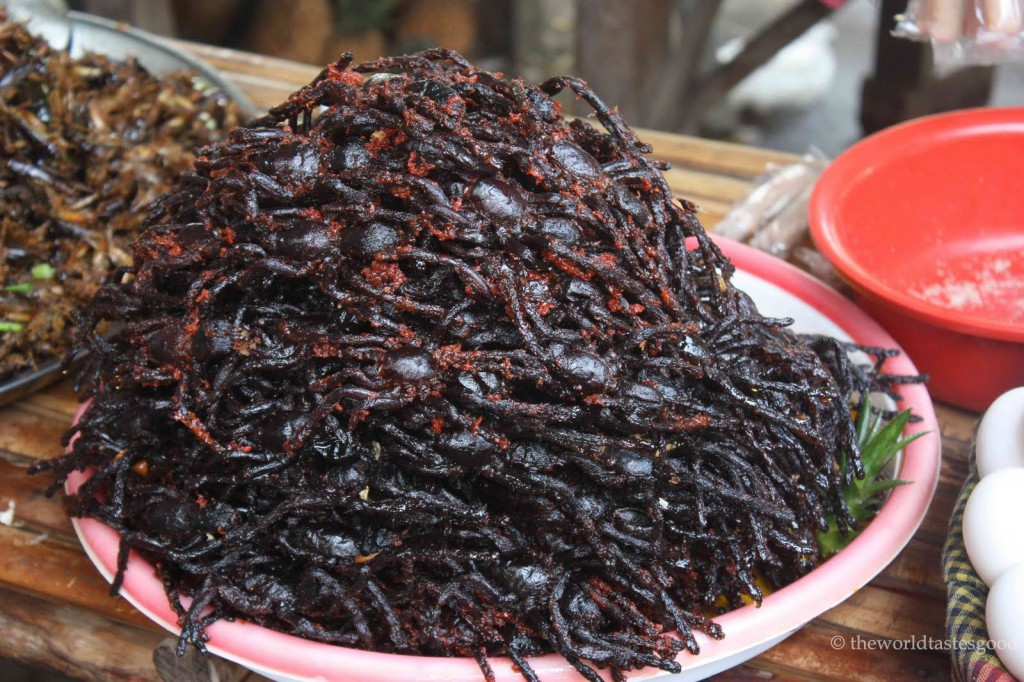 spicy fried tarantulas in cambodia copy