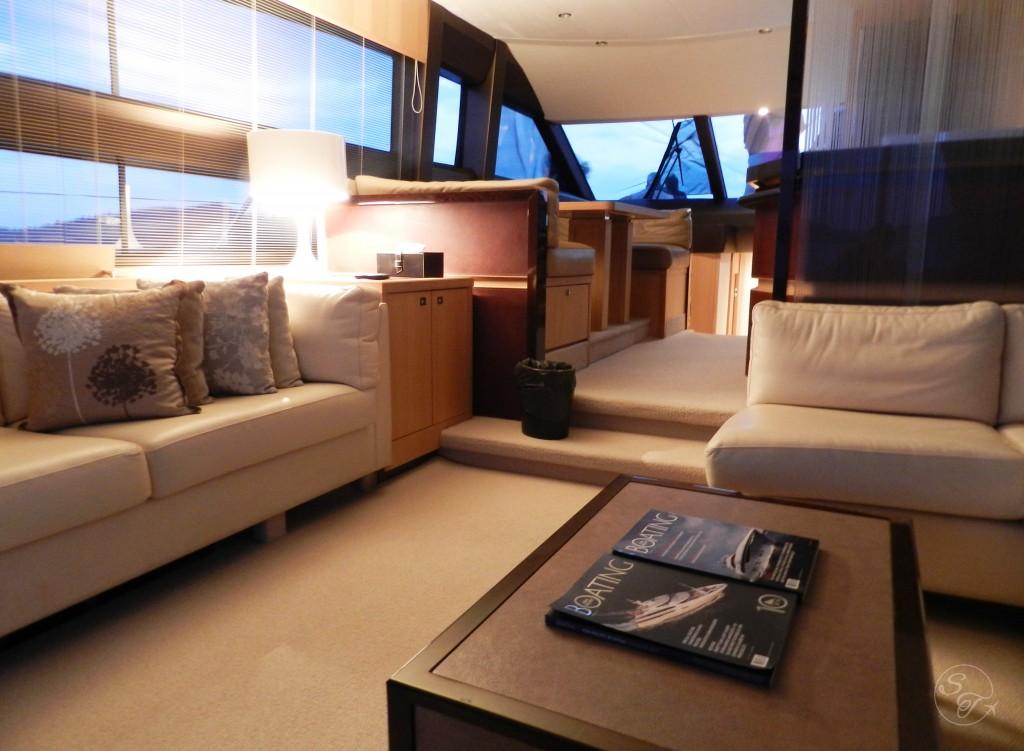 Inside cabin of yacht