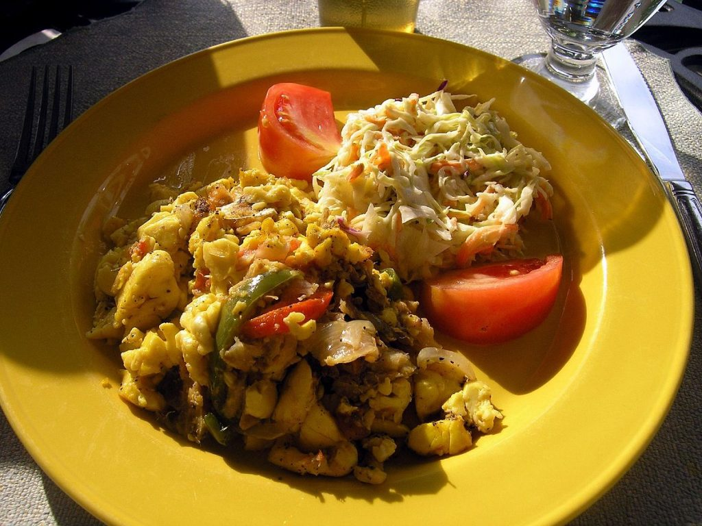 Gastronome Wednesday ~  Ackee and Salt Fish