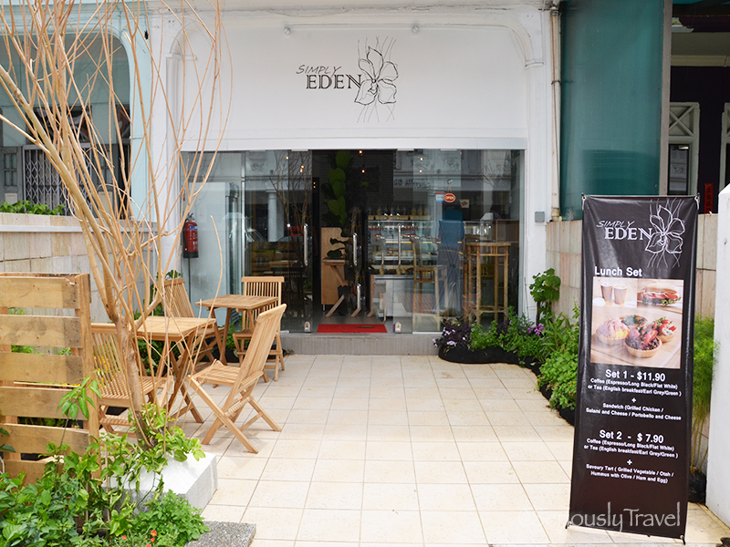 Exterior of Simply Eden
