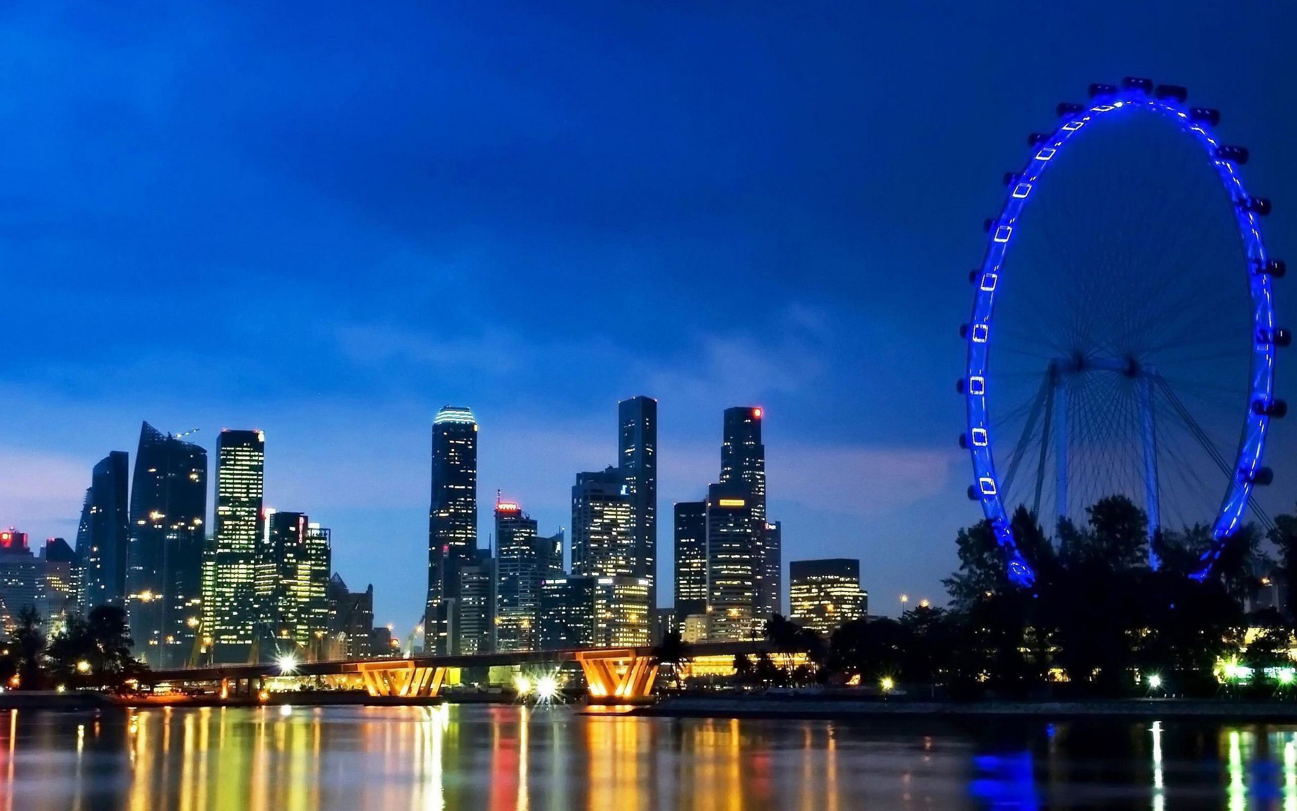 Singapore Skyline City Widescreen Hd Wallpapers Seriously