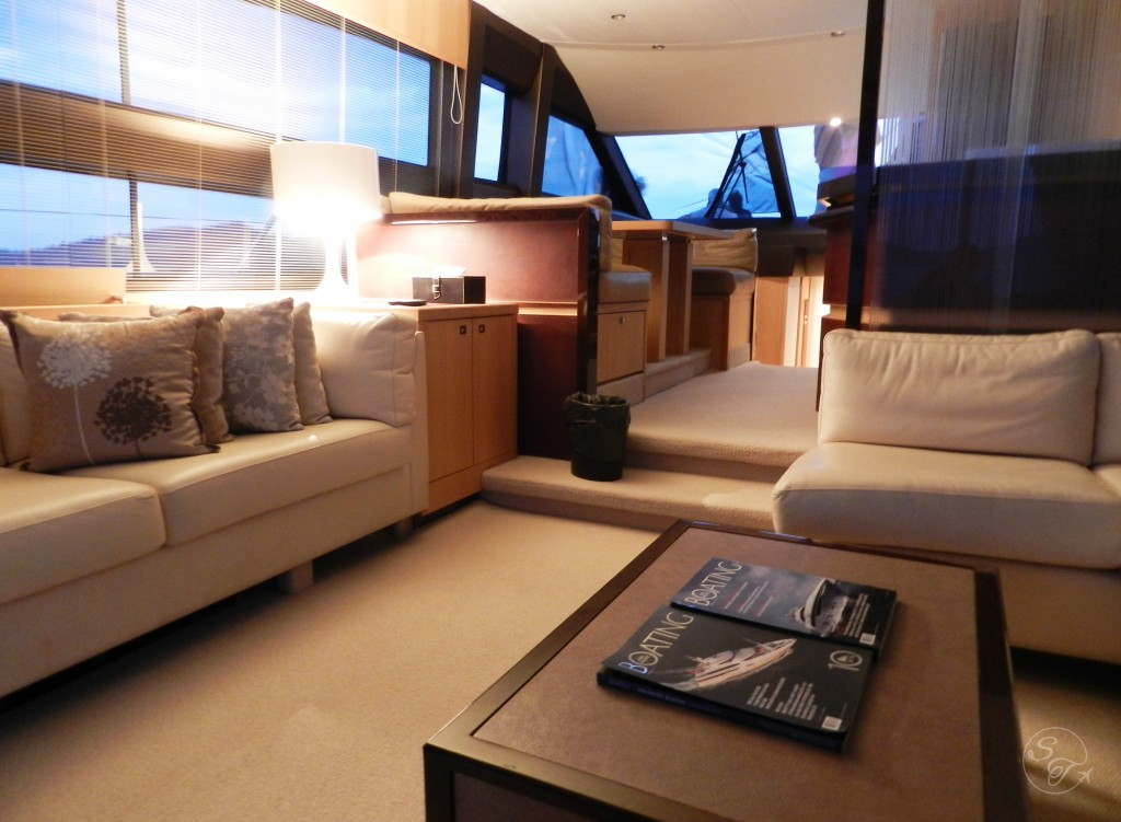 Inside cabin of yacht